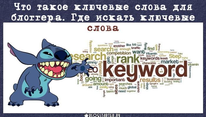 blogstarter.ru / Что такое ключевые слова для блоггера